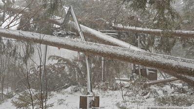 Die komplett zerstörte Bergstation des Skiliftes Oberdorf. (Bilder: Bergbahnen Wildhaus)