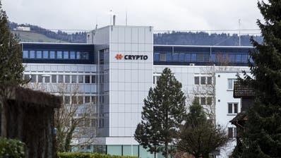 Der Hauptsitz von Cryptoin Steinhausen. (Bild. Alexandra Wey / Keystone, 11. Februar)