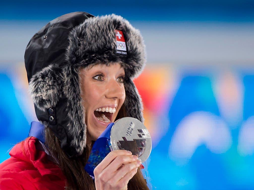 Höhepunkt der Schweizer Biathlon-Geschichte: 2014 gewann Selina Gasparin in Sotschi die Olympia-Silbermedaille - kommt nun erstmals WM-Edelmetall dazu?