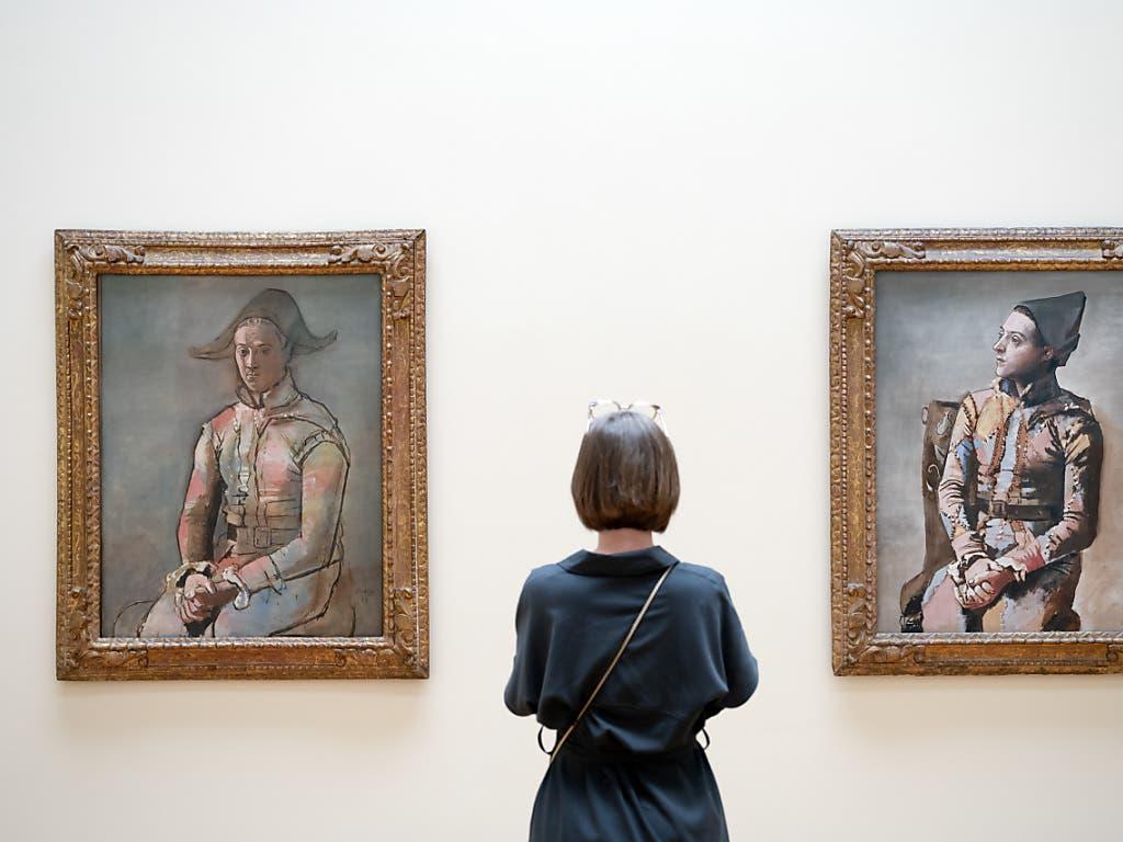 Einmalige Begegnung: Die beiden 1923 entstandenen «Arlequins» von Picasso sind der Höhepunkt der am 22. Februar beginnenden Ausstellung «Picasso, Chagall, Jawlensky» im Kunstmuseum Basel.