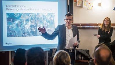 Die Stadt vertröstet das Riethüsli: Bis zum Schulhausneubau müssen die Kinder zur Tagesbetreuung an die Oberstrasse