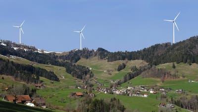 So oder ähnlich könnte es oberhalb von Krinau künftig aussehen. Die Eidgenössische Natur- und Heimatschutzkommission ist dagegen. (Bild: PD)