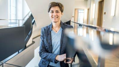 Monika Knill fühlt sich wohl im Regierungsgebäude in Frauenfeld. (Bild: Andrea Stalder)
