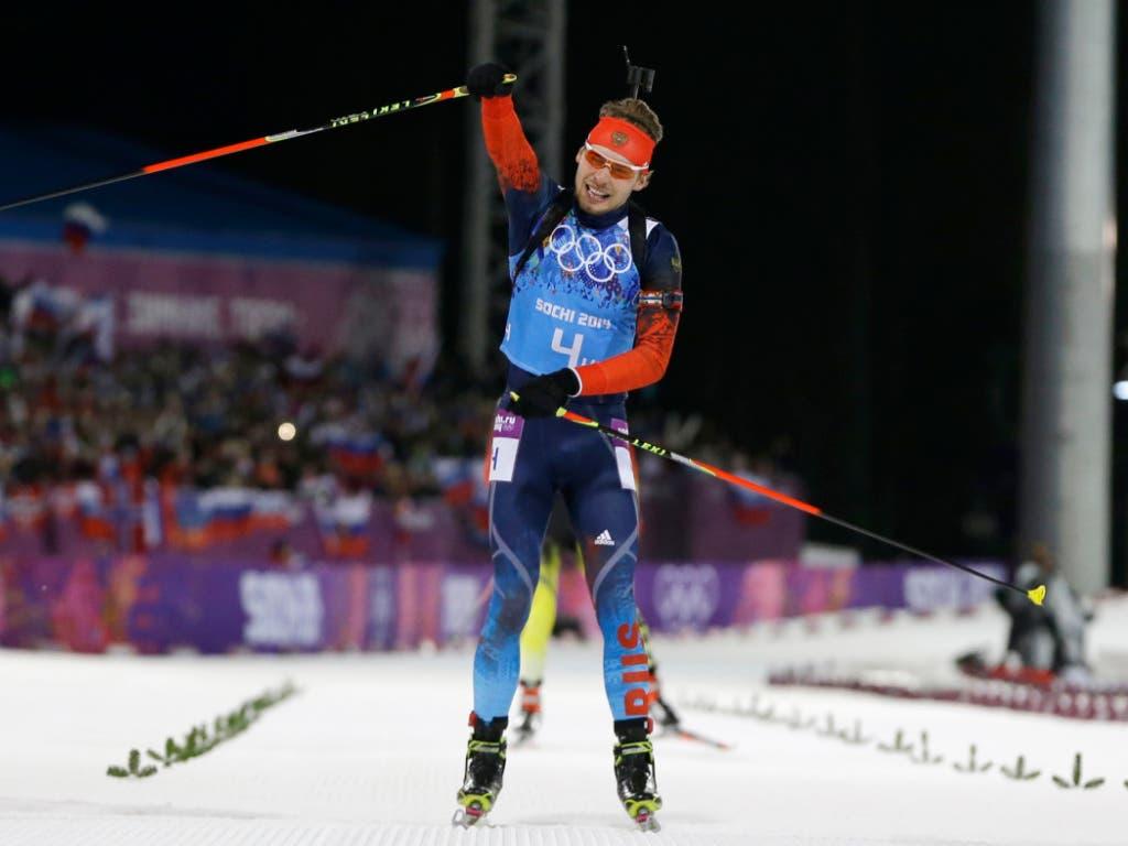 Am Samstag nachträglich wegen Dopings gesperrt: der zweifache russische Biathlon-Olympiasieger Jewgeni Ustjugow