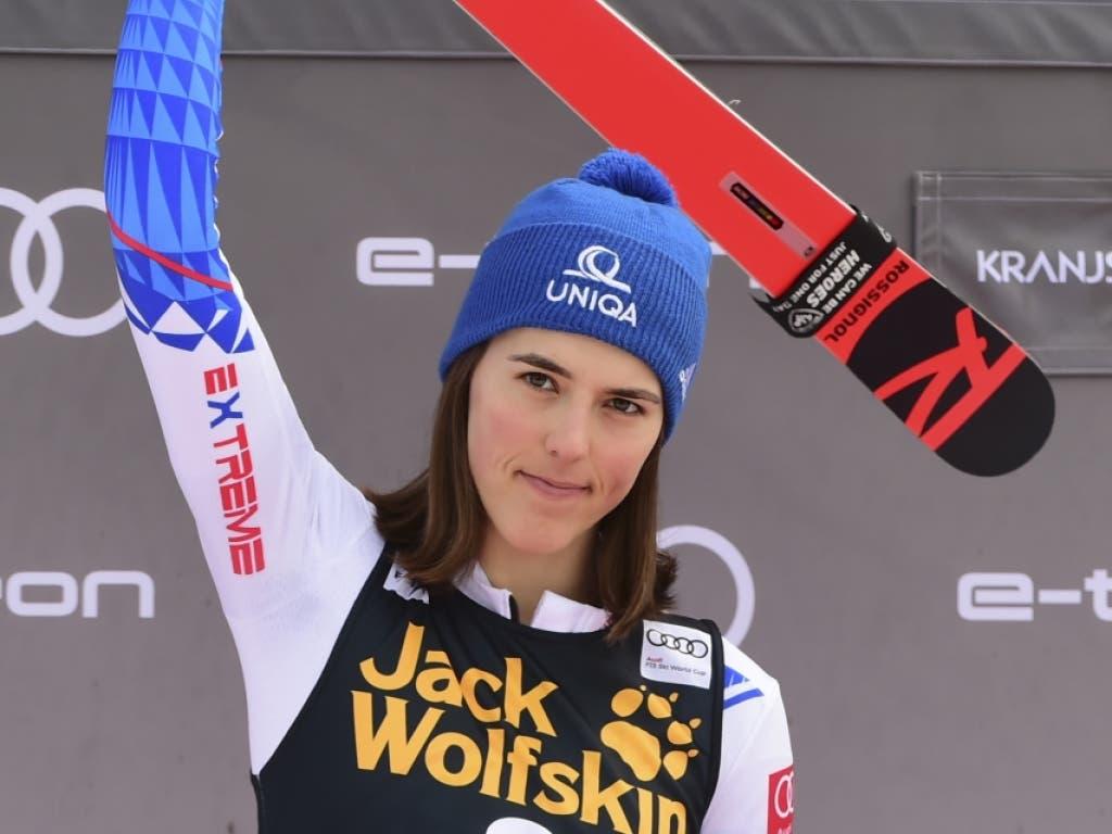 War mit dem 2. Platz nicht wirklich zufrieden: die nach dem 1. Lauf führenden Slowakin Petra Vlhova