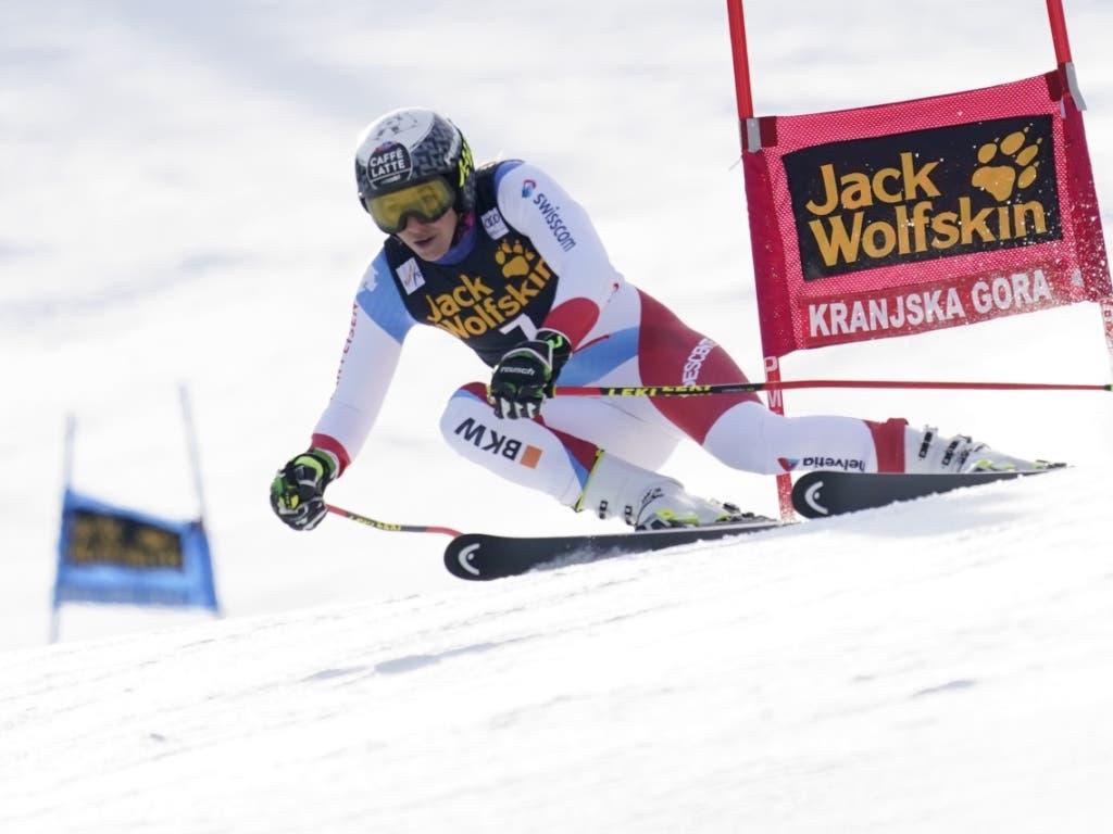 Auf dem Weg zu ihrem zweiten Podestplatz in einem Weltcup-Riesenslalom: Wendy Holdener in Kranjska Gora