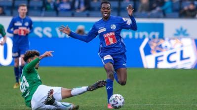 Auch Tabellenführer St. Gallen konnte den FCL nicht aufhalten. (Bild: Martin Meienberger)