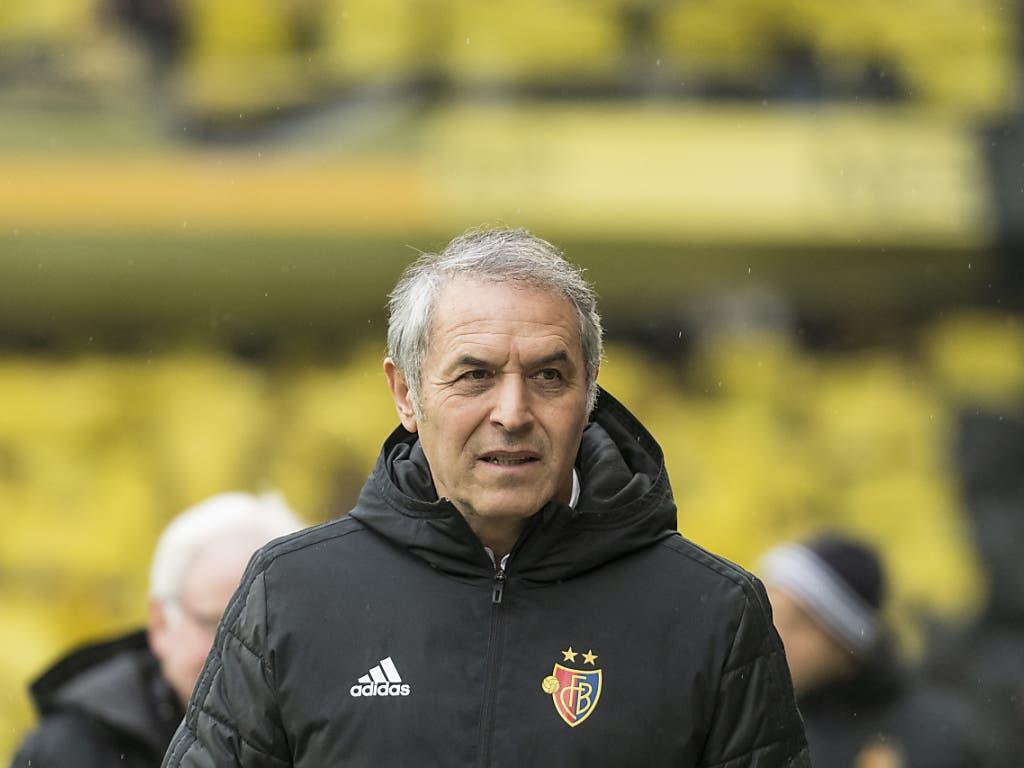 Marcel Koller darf feststellen, dass Basels Niederlage gegen Thun keine Auswirkungen in der Tabelle hat