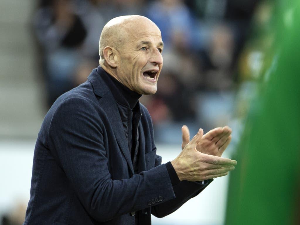 Peter Zeidler muss sich um seine junge St. Galler Mannschaft (noch) keine Sorgen machen