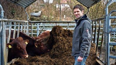 Bio-Bauer Kilian Baumann: «Ein Hof soll nur so viele Tiere haben, die er auch mit dem eigenen Futter versorgen kann.» (Bild: Colin Frei (Suberg, 13. Februar 2020))