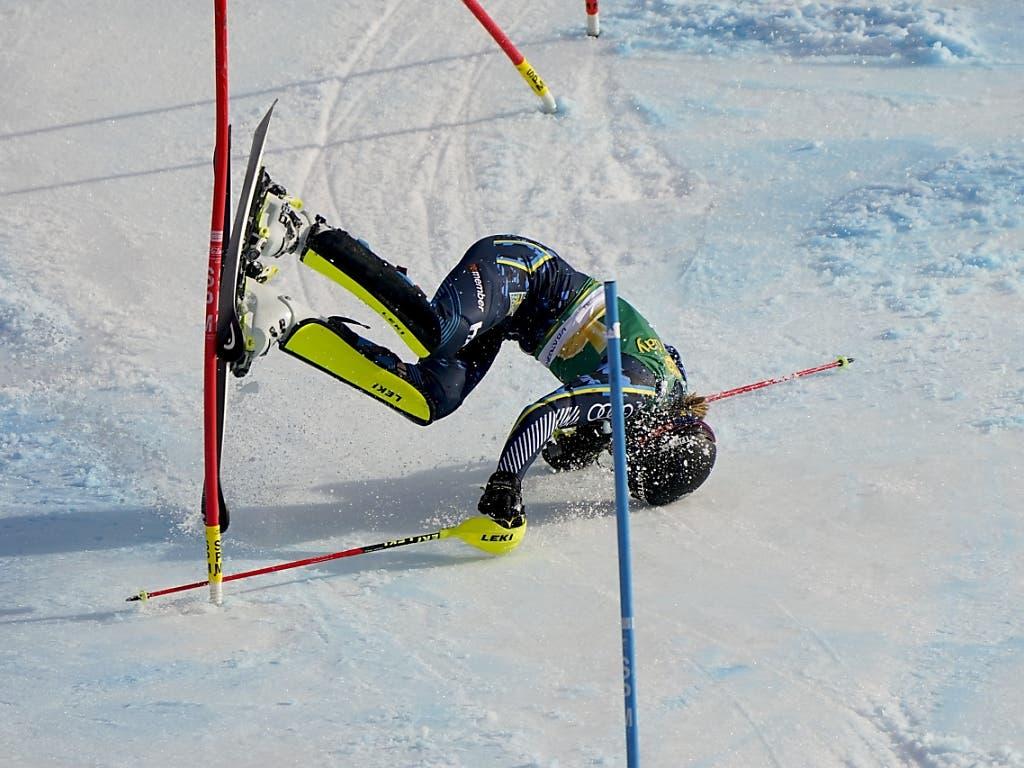 Sturz statt Sieg für die Schwedin Anna Swenn Larsson