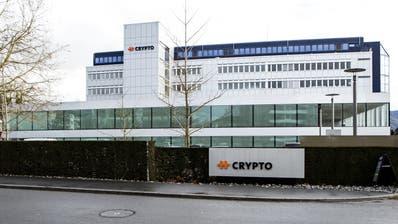 Der Hauptsitz des Chiffriergeräte-Herstellers Crypto. (Bild: Alexandra Wey / Keystone (Steinhausen, 11. Februar 2020))