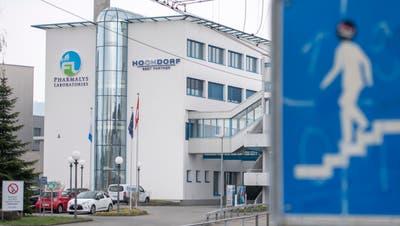 Der Hauptsitz des Milchverarbeiters Hochdorf. (Bild: Urs Flüeler/Keystone (Hochdorf, 11. April 2019))