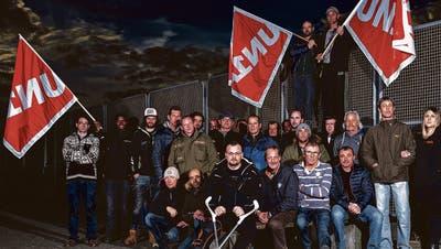 Die Beschäftigten haben sich am Montagabend bei der Unia in Arbon getroffen.