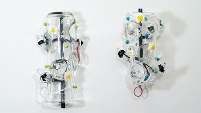 Krautstrunk 1 & 2 von Stefan Burger zu sehen in der Galerie Kirchgasse in Steckborn. ((Bild: PD))
