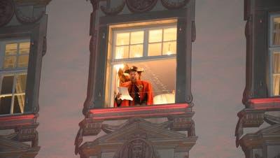 Der Herold der FGWverkündete dieses Jahr seine Bulle vom Baronenhaus aus. (Bild: Gianni Amstutz)