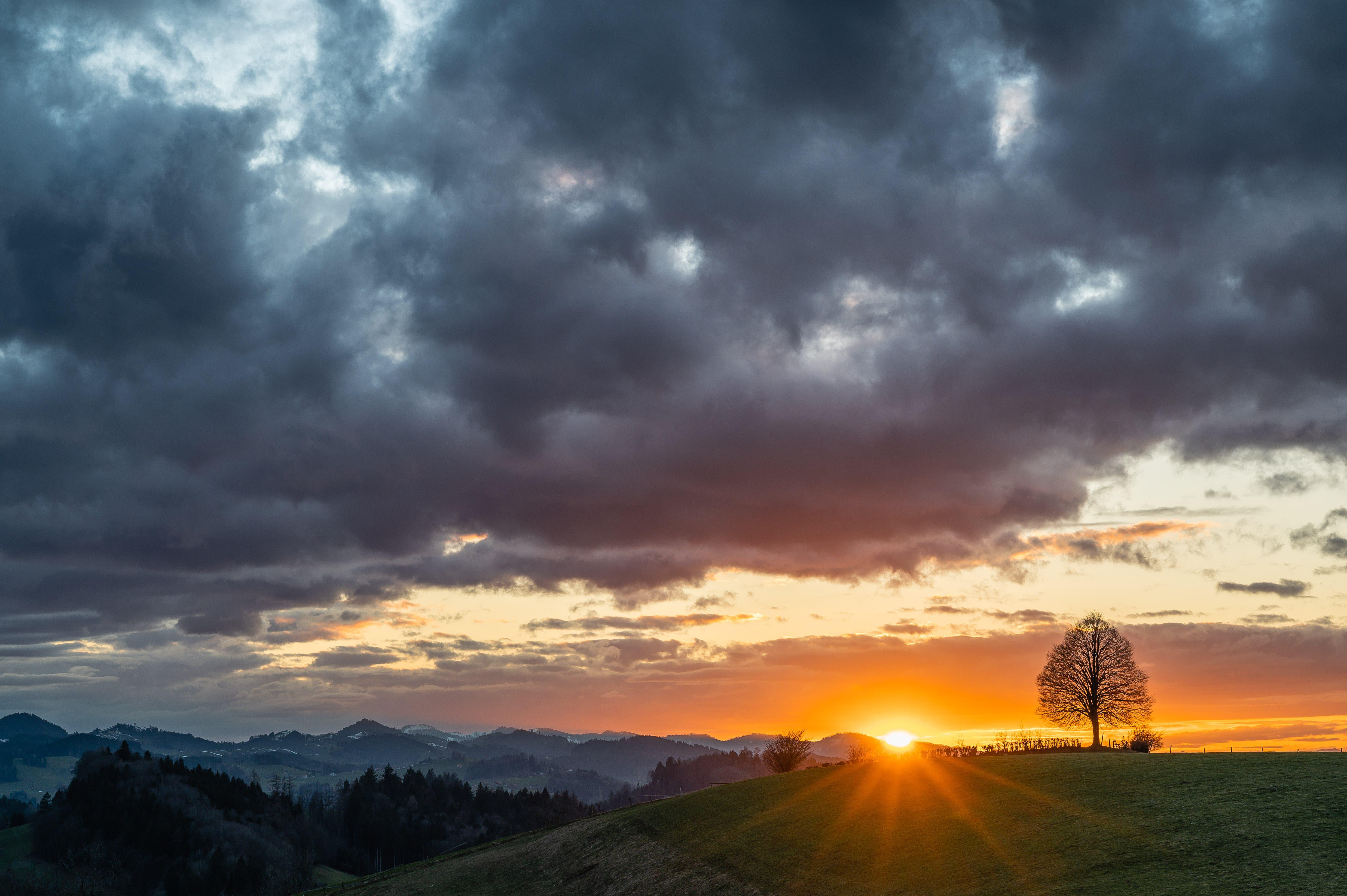 Vor dem Wetterwechsel auf dem Chapf, St.Gallen.