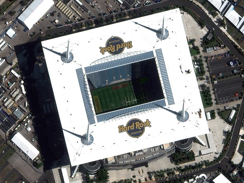 Austragungsort der Super Bowl 2020 ist das Hard Rock Stadium in Miami