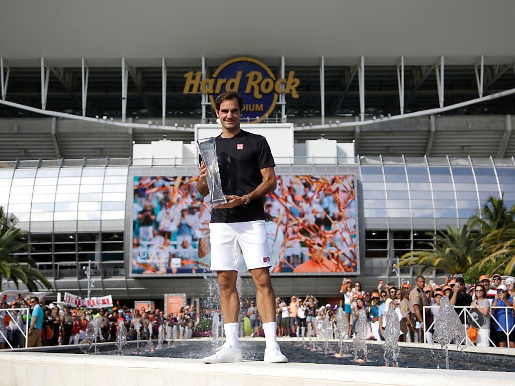 Im März des letzten Jahres ging in diesem Stadion erstmals das Tennis-Masters-1000-Turnier von Miami über die Bühne. Der Sieger damals hiess: Roger Federer