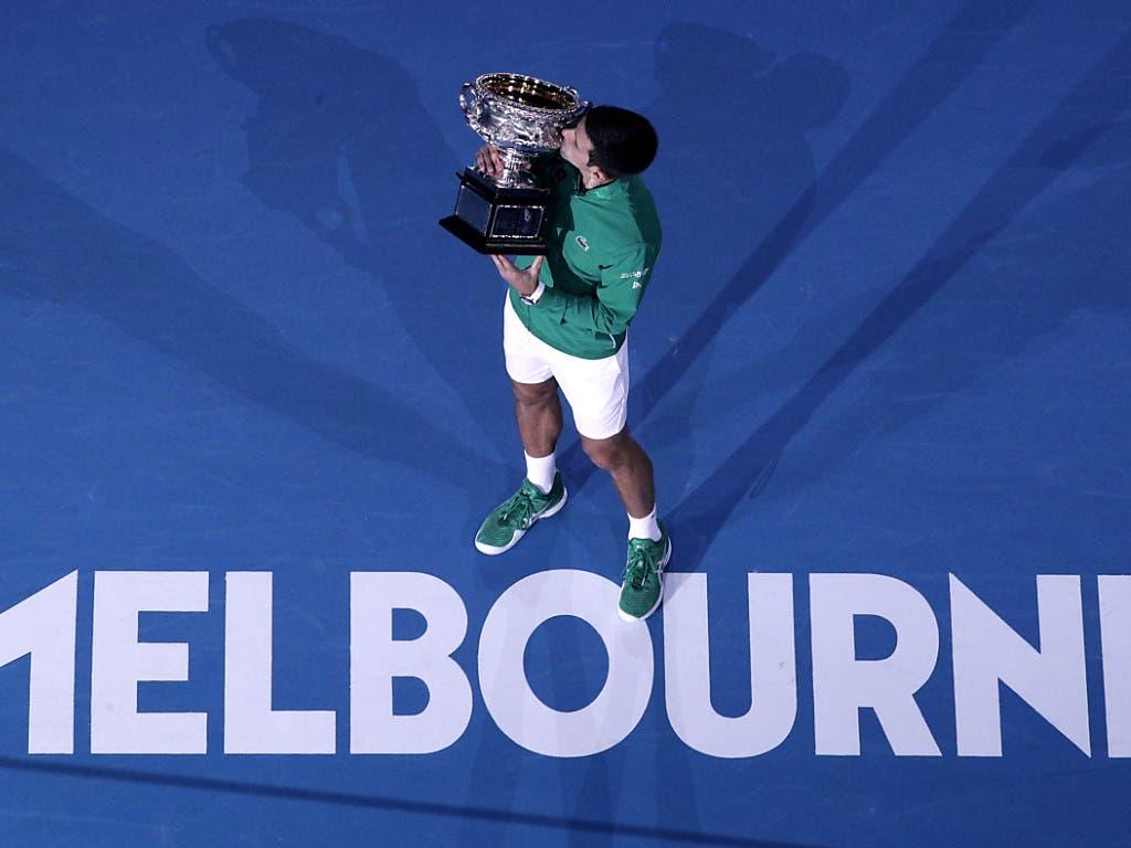 Novak Djokovic ist mit acht Titeln der Rekordsieger von Melbourne