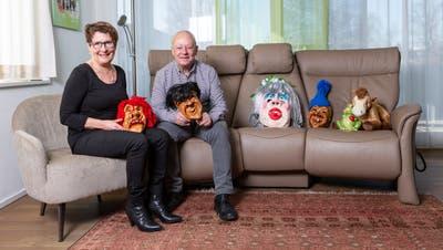 Rolf Birchler, Wey-Zunftmeister und seine Gattin Agatha in ihrem Wohnzimmer in Rothenburg. (Bild: Patrick Hürlimann, Rothenburg, 07. Februar 2020)