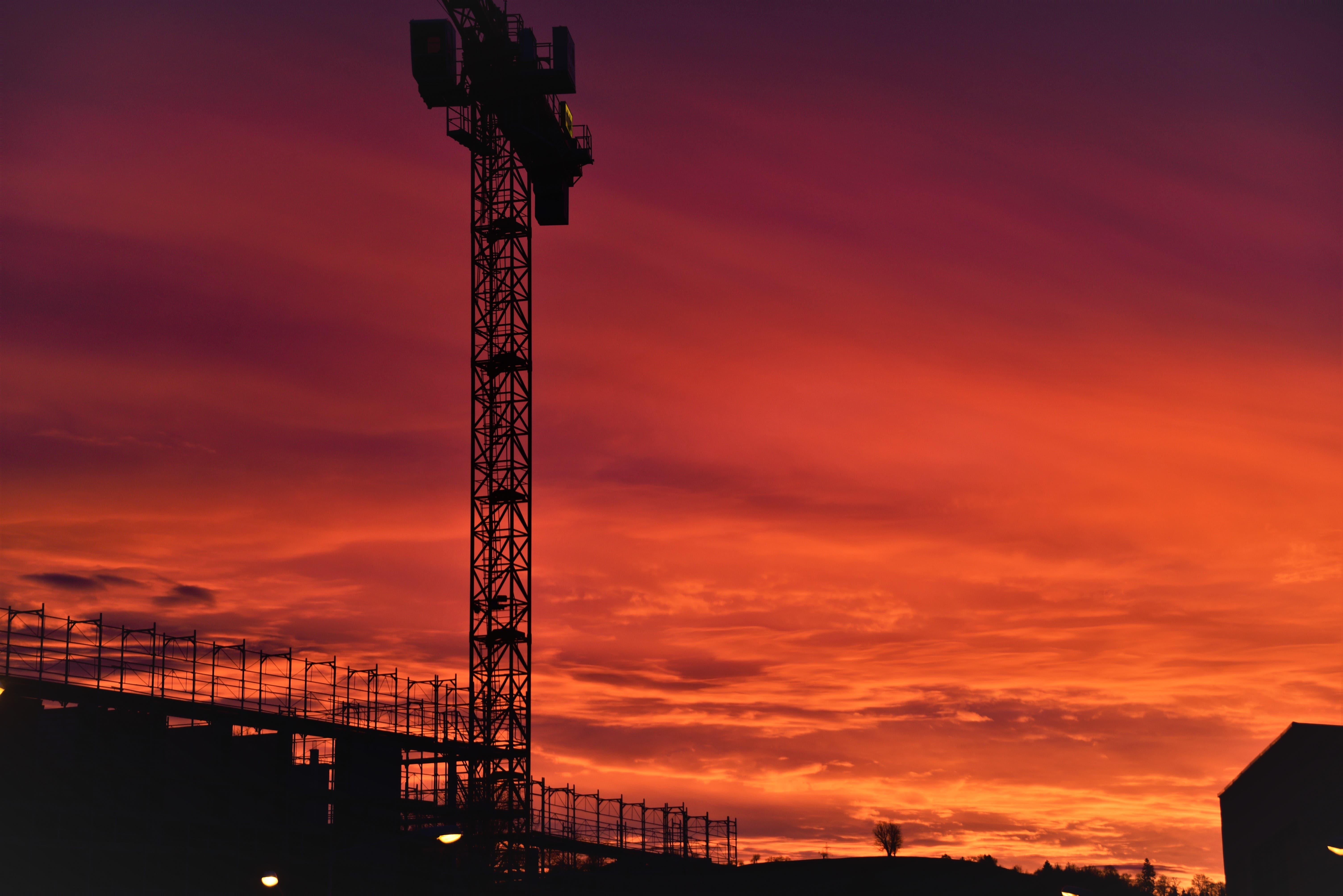 Sonnenuntergang über dem Generationenprojekt.