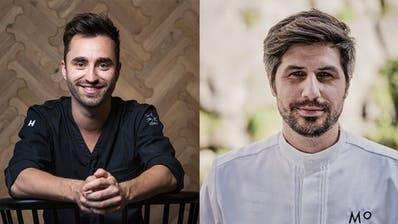 Die beiden Küchenchefs Silvio Germann (links) und Sven Wassmer wurden für Ihre Leistungen mit jeweils zwei Michelin-Sternen ausgezeichnet. (Bild: PD/Grand Resort Bad Ragaz)