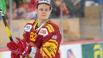 Der Finne Harry Pesonenspielt für die SCL Tigers. (Marcel Bieri/Keystone (Langnau, 16.März 2019))