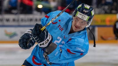Santeri Alatalo vor dem dritten Playoff-Viertelfinalspiel der National League zwischen dem EV Zug und dem HC Lugano am 14. Maerz 2019 in der Bossard Arena in Zug. (Urs Flüeler/Keystone)
