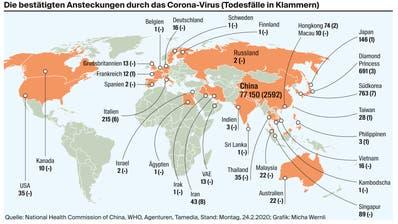 Wo das Corona-Virus schon aufgetreten ist – sieben Fragen und Antworten