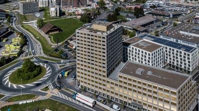 Blick auf das Gebiet Luzern Süd, im Vordergrund ist die Überbauung Mattenhof zu sehen. (Bild: Pius Amrein (Kriens,25. April 2019))