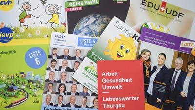Dieses Sammelsurium an Wahlprospekten lag zuletzt in vielen Briefkästen. ((Bild: Samuel Koch))