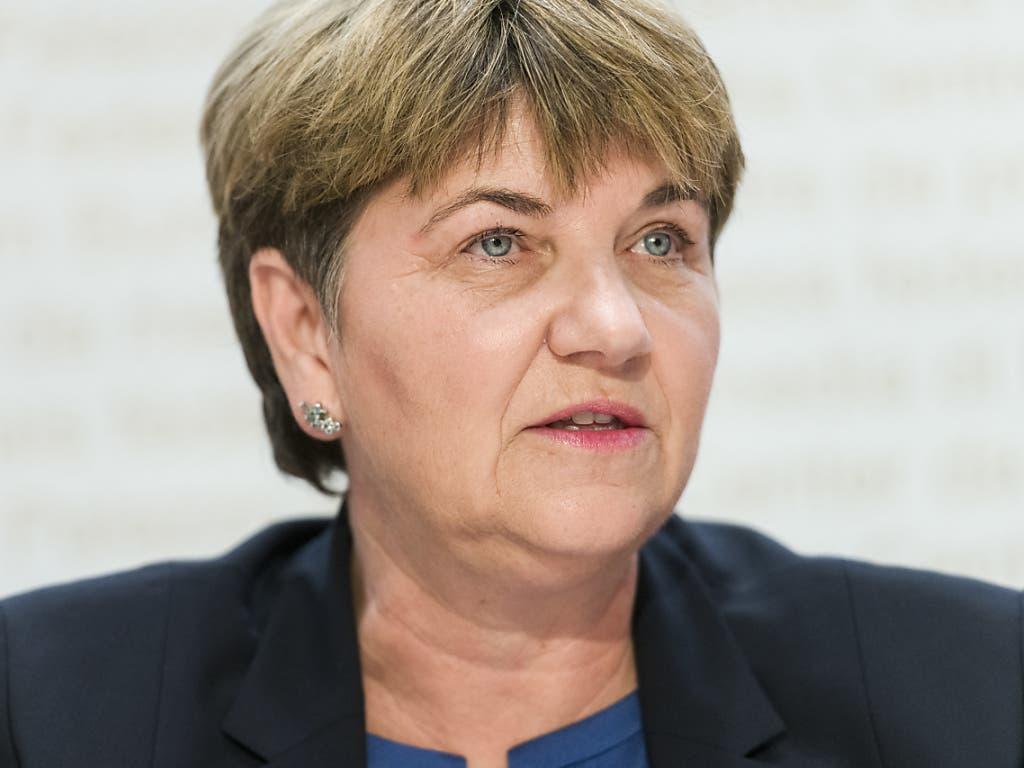 Erläuterte der Bevölkerung von Mitholz das Räumungskonzept: Bundesrätin Viola Amherd.