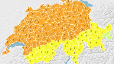 In der Zentralschweiz wie in weiten Teilen des Mittellands gilt die Warnstufe 3. (Urs Gutfleisch / Leserbild)