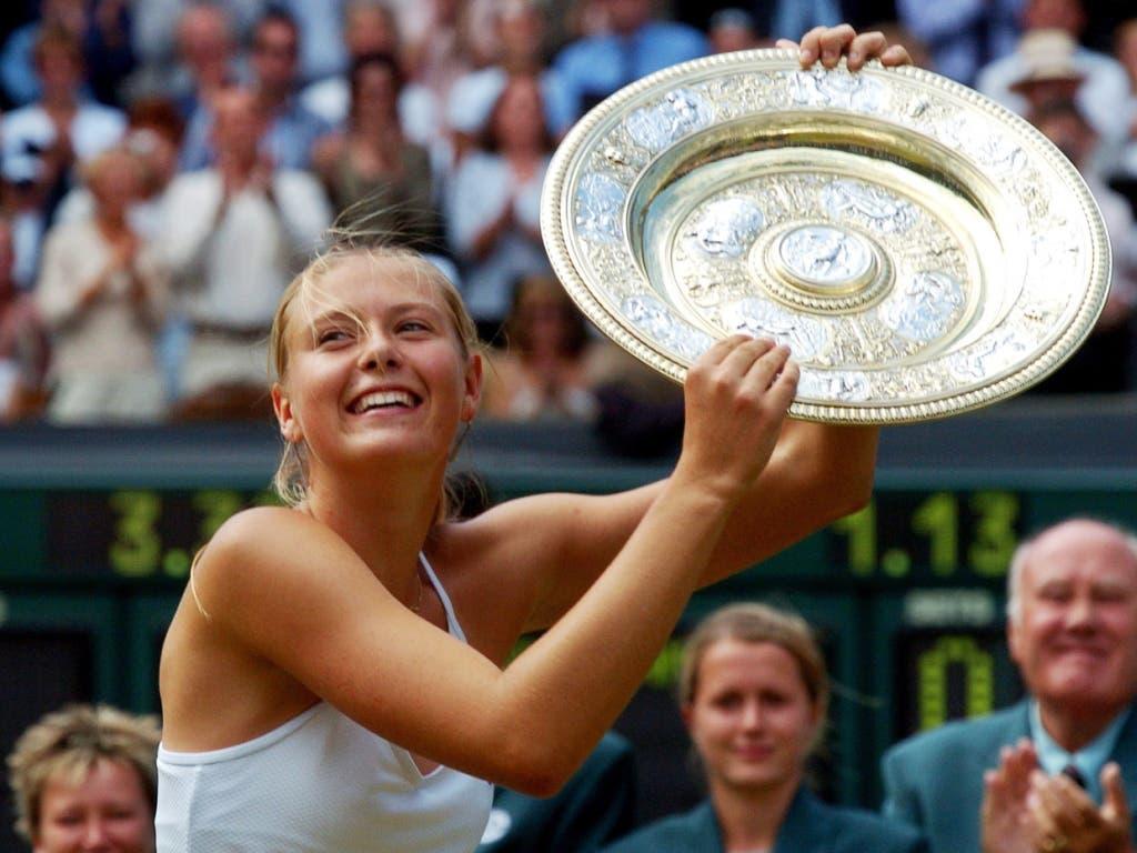 Maria Scharapowa im Alter von 17 Jahre nach dem ersten Wimbledon-Titel
