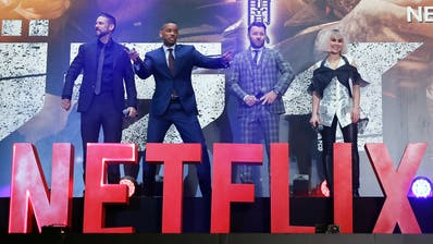 """Will Smith präsentiert in Tokyo die Premiere des Netflix-Films """"Bright"""". Werden solche Szenen bald in der Schweiz möglich? EPA/CHRISTOPHER JUE (Christopher Jue / EPA/EPA)"""