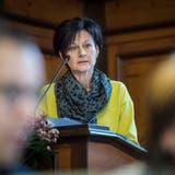 Cornelia Hasler stellt ihre Motion im Grossen Rat vor. (Bild: Reto Martin)