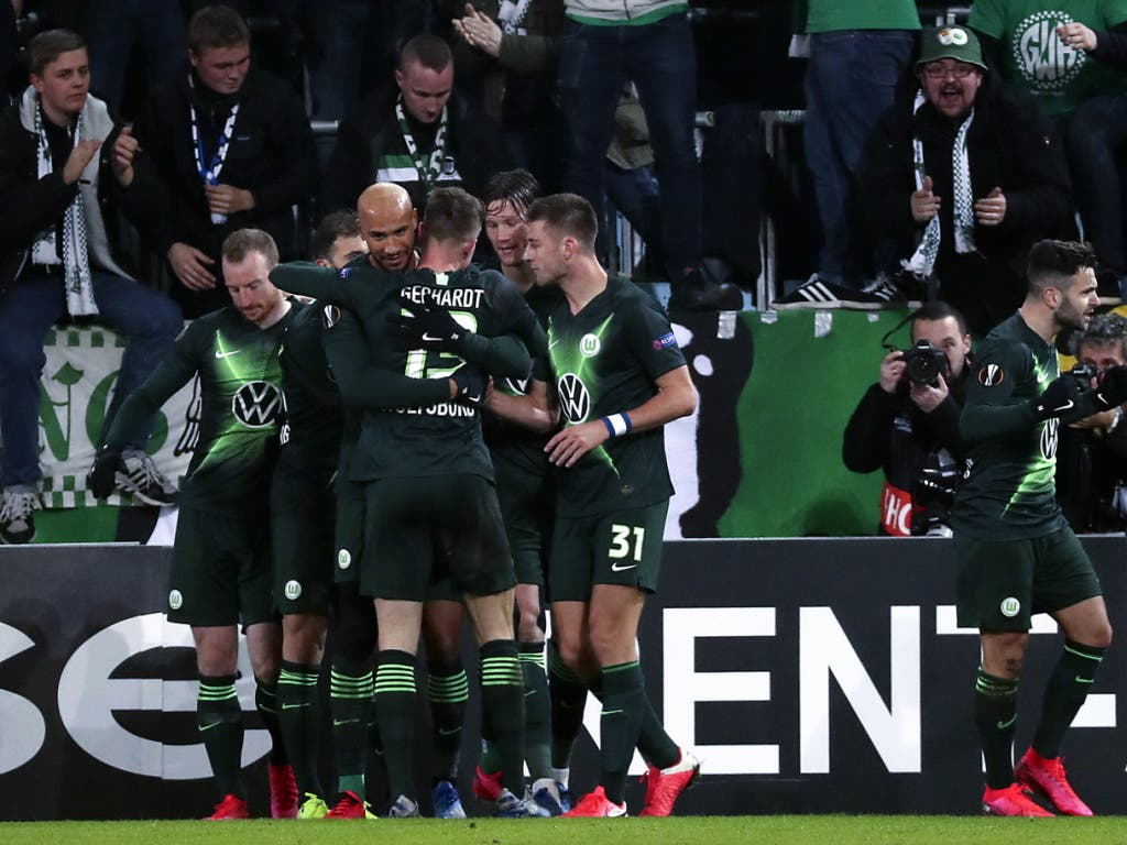 Die Wolfsburger jubeln in Malmö