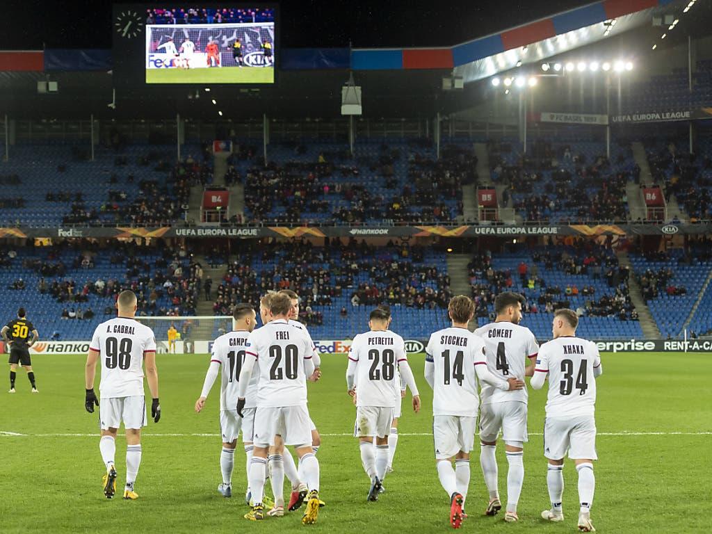 Nach Fabian Freis 1:0 konnten sich die Basler beruhigt dem Rest des Spiels gegen APOEL Nikosia stellen
