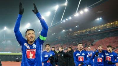 Grund zur Freude für alle FCL-Fans: Lucas Alves bleibt beim FCL. (Martin Meienberger)