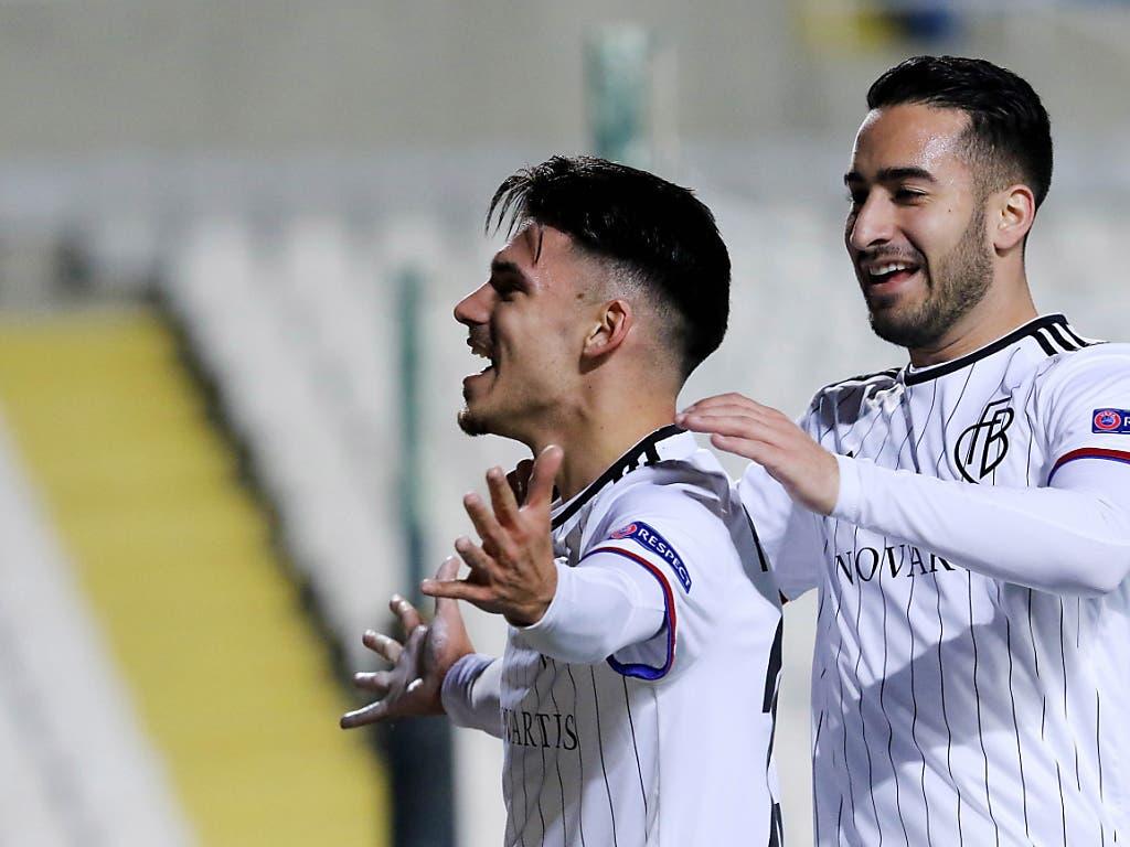 Nach der 3:0-Gala im Hinspiel in Nikosia steht für Raoul Petretta (links), Samuele Campo und Co. die Tür zu den Achtelfinals weit offen