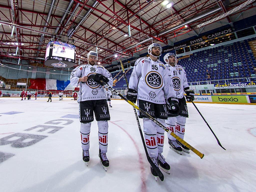 Der HC Lugano kann mit einem Sieg über Ambri am Samstag das letzte Playoff-Ticket im Gegensatz zu Bern aus eigener Kraft lösen