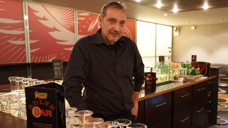 Im «Schwarzen Adler» in Gossau kann man den Goldstaub-Cocktail mit Bitcoin bezahlen