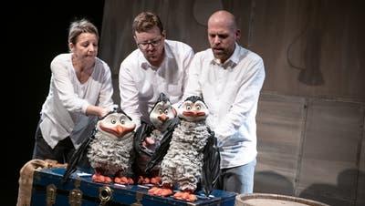 """Die nächste Sintflut kommt bestimmt: Das Figurentheater St. Gallen spielt """"An der Arche um Acht"""""""