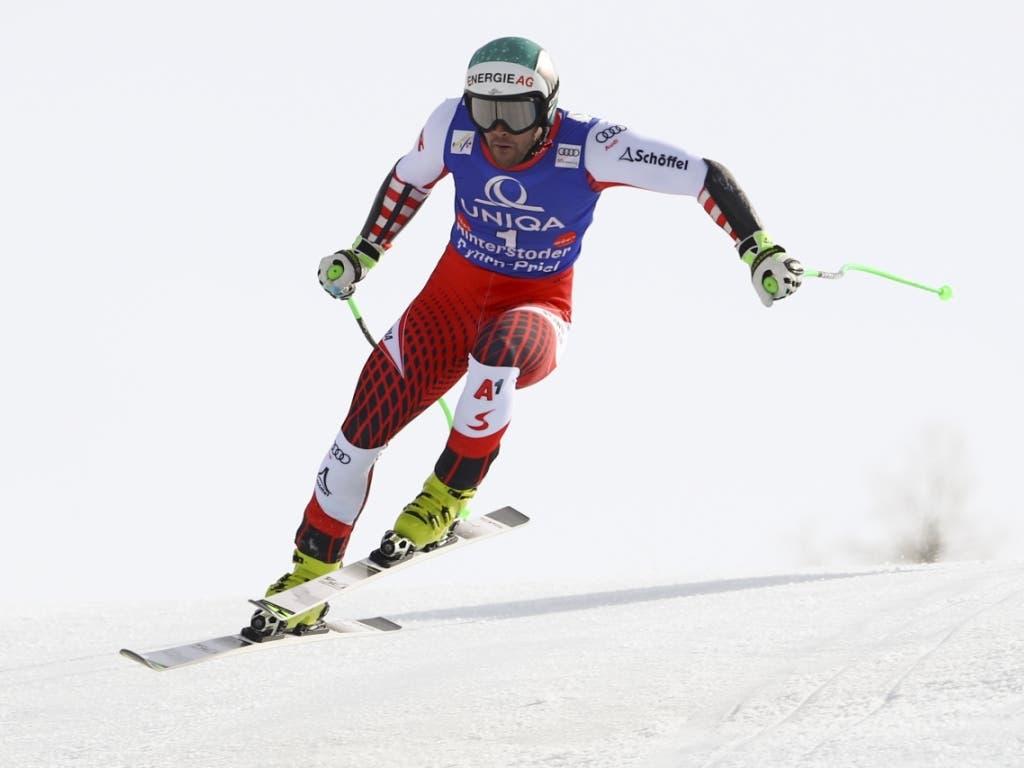 Vincent Kriechmayr fuhr mit der Startnummer 1 zum Sieg