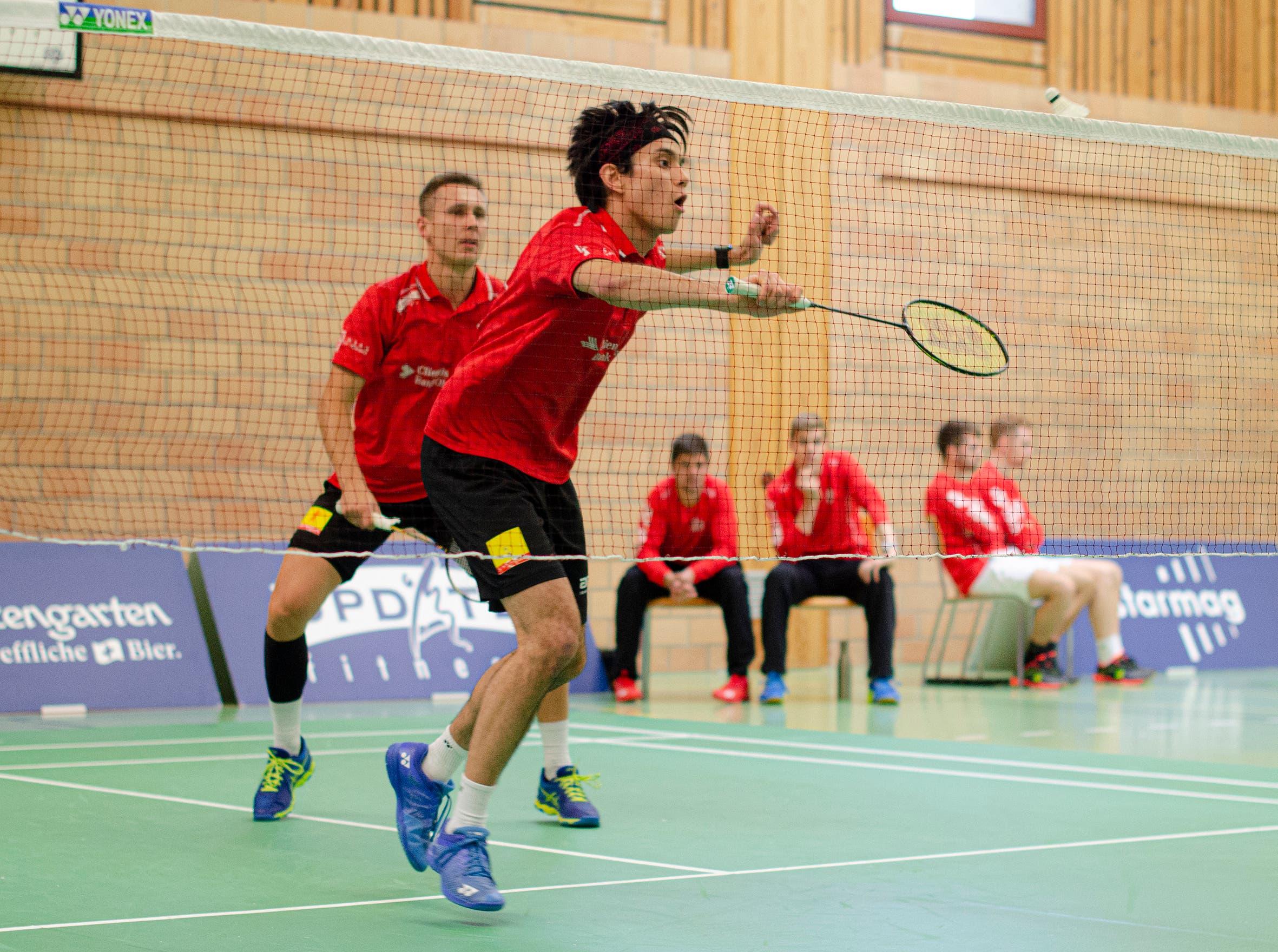 Müller im Uzwiler Doppel mit Partner Adam Cwalina.