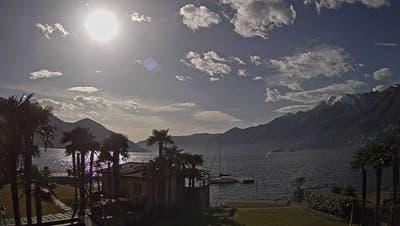 Aufnahme einer Webcam von Ascona heute Nachmittag. (Hotel Eden Roc)