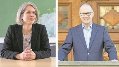 Franziska Bitzi Staub (CVP) und Martin Merki (FDP) stehen nicht auf der Stadtratsliste der GLP. (Bilder: Nadia Schärli, Urs Flüeler / Keystone)