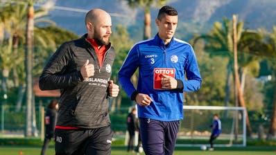 Lazar Cirkovic im FCL-Trainingslager im Januar in Marbella – nun gehört er nicht mehr zum Kader. (Martin Meienberger)