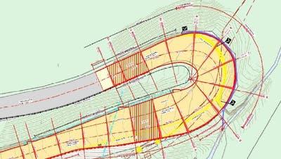 Die Schwibögli-Kurve soll bis maximal 4,5 Meter verbreitert werden. (Bild: PD)